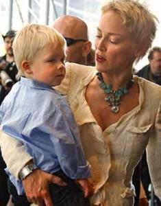 Sharon.Stone.Son.Roan.2005