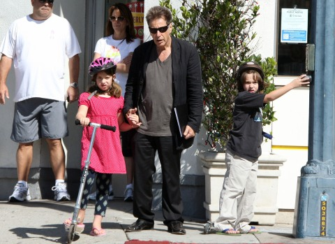 EXCLUSIVE... Al Pacino Scoots the Day Away With His Twins!