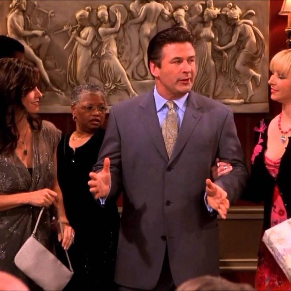 Alec Baldwin era Parker, acompanhante de Phoebe fica facilmente feliz com tudo.