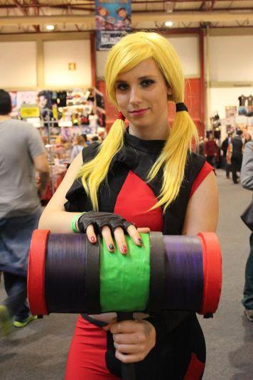 Cosplay Harley Quinn filme Assault on Arkham. Costume feito por mim. Créditos Foto Shravan Dev