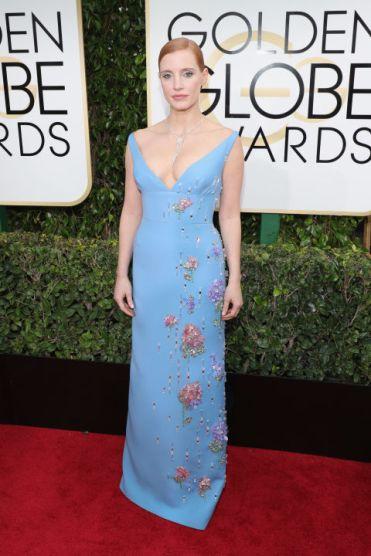 Jessica Chastain em Prada Getty