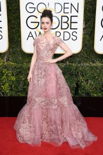 Lily Collins em Zuhair Murad Couture