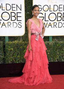 Zoe Saldana em Gucci Getty