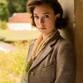 Com um estilo mais clássico, Margaret utilizava padrões tweed para as suas saídas com Peter, prático para caminhadas e andar a cavalo.