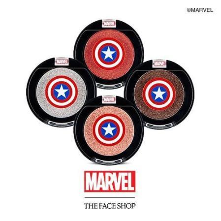 Sombra de olhos Capitão América em vários tons.