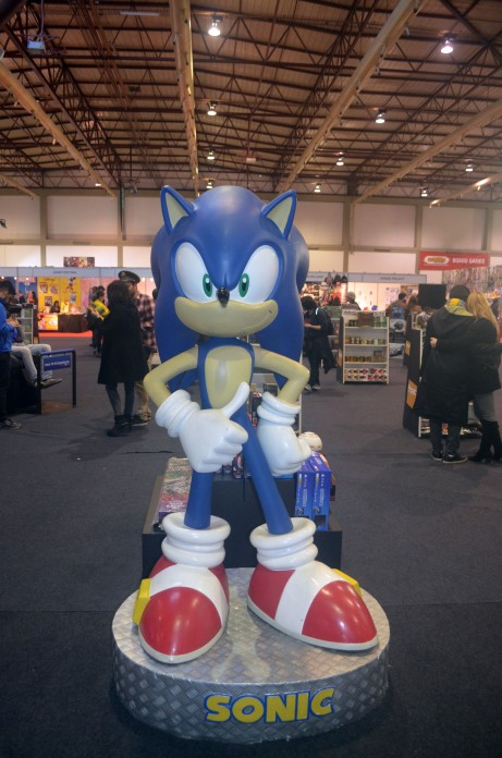Sonic no stand da Fnac