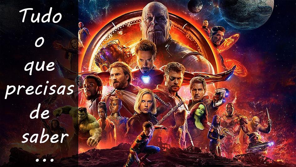 """O caminho até """"Vingadores: Guerra doInfinito"""""""