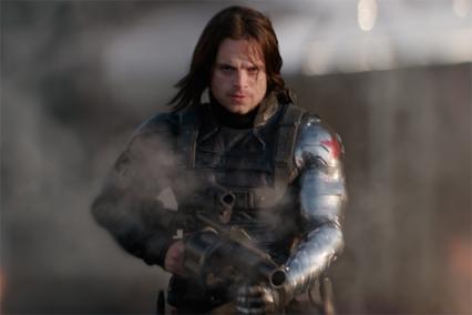"""Capitão América consegue um segundo filme em 2014 com """"O Soldado de Inverno"""". Enquanto Steve Rogers descobre que o seu amigo Bucky ainda se encontra vivo, tenta procurar respostas. Contudo este tem a missão de o matar. Enquanto luta contra Bucky, o Capitão descobre que a HYDRA tomou posse da S.H.I.E.L.D, e do ceptro de Loki, tem apenas a ajuda da Viúva Negra para terminar com o domínio dos vilões. Com o avançar dos filmes o Soldado de Inverno começa a trabalhar a solo. Em """"Capitão América: Guerra Civil"""" é culpado pela morte do pai de T'Challa ou Pantera Negra e no passado assassinou os pais de Tony Stark. Apesar de ter sido manipulado e sem a sua própria consciência comete tais fatalidades,. Tal vai criar um clima de hostilidade no grupo, principalmente entre Capitão América e Homem de Ferro. Especula-se que neste filme Buck adopte o nome de White Wolf, uma nova personagem da Marvel, para assim limpar o caminho do seu passado."""