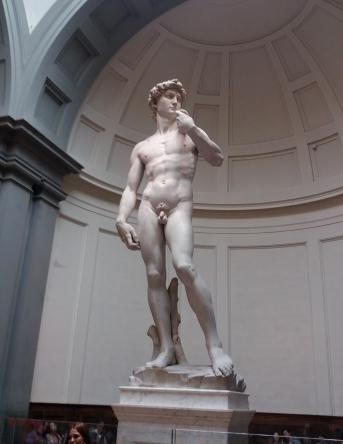 A emblemática estátua de Miguel Ângelo, David