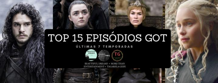 """OS MELHORES 15 EPISÓDIOS """"GAME OFTHRONES"""""""