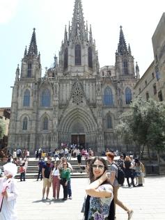 Pose na Catedral da Barcelona
