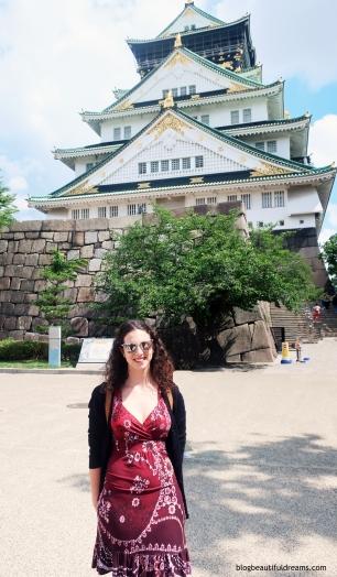 Vista geral do castelo de Osaka.