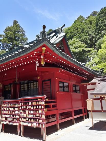 Hakone jinja o vermelho predomina.