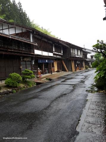 Tsumago. Esta é uma aldeia muito calma e rural.